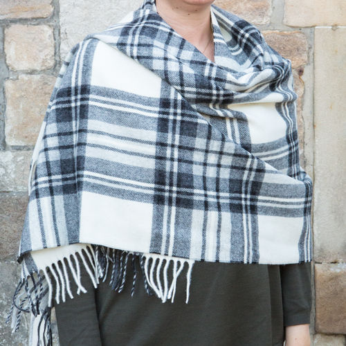 Stole - Tartan 65cm - Dress Grey Stewart