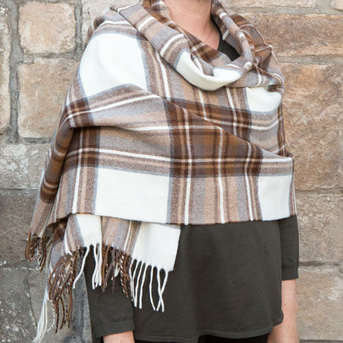 Stole - Tartan 65cm - Natural Dress Stewart