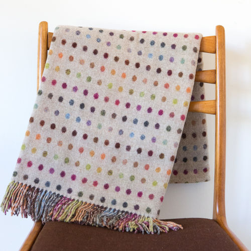 Throws MLW - Multi Beige Collection - Spot/Check