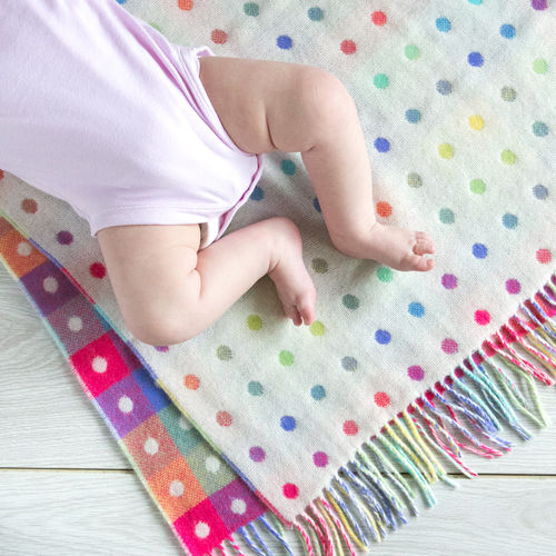 Baby Blanket - LW Multi Bright Spot Check