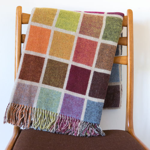 Throws MLW - Multi Beige Collection - Block/Windowpane