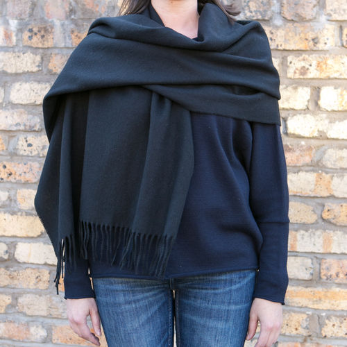 Stole - Plain - 70cm wide - Black