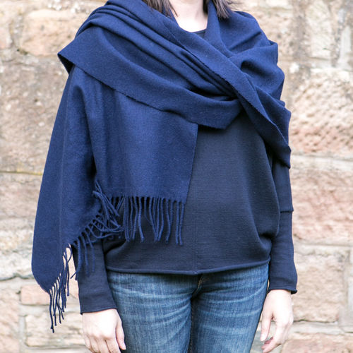 Stole - Plain - 70cm wide - Navy Blue
