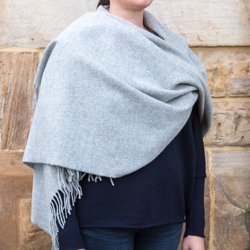 Stole - Plain - 70cm wide - Light Grey