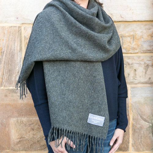 Stole - Plain - 70cm wide - Dark Grey