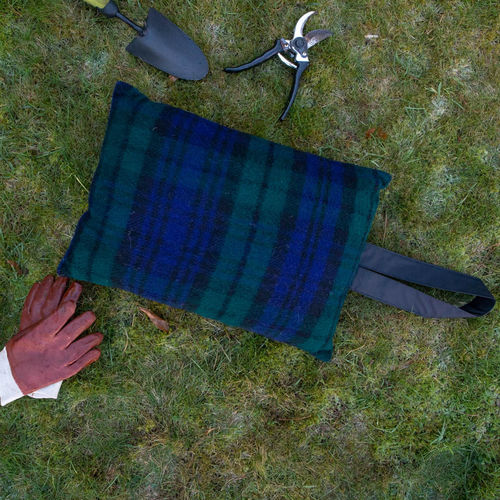 Kneeler Cushion - Tartan Blackwatch/Black