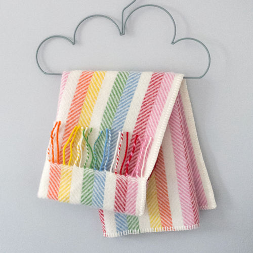 Pram Blanket - Stripes Rainbow
