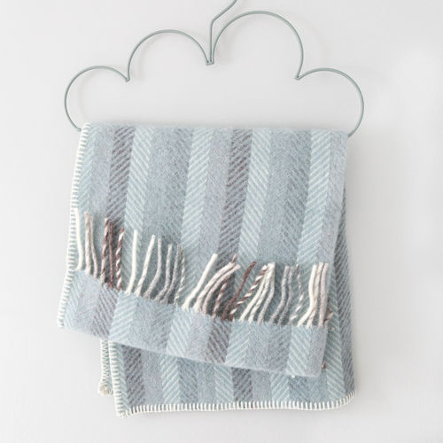 Pram Blanket - Stripes Blue