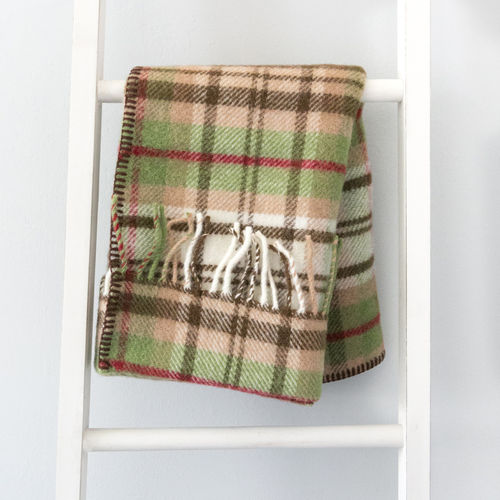 Pram Blanket - Checks Country Brown