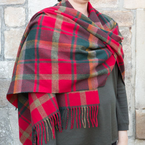 Stole - Tartan 65cm - Dark Maple