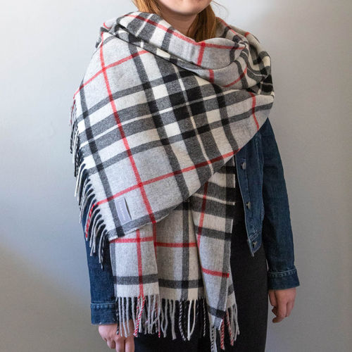 Stole - Tartan 65cm - Grey Thompson