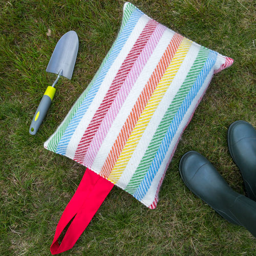 Kneeler Cushion - Rainbow Multi/Red