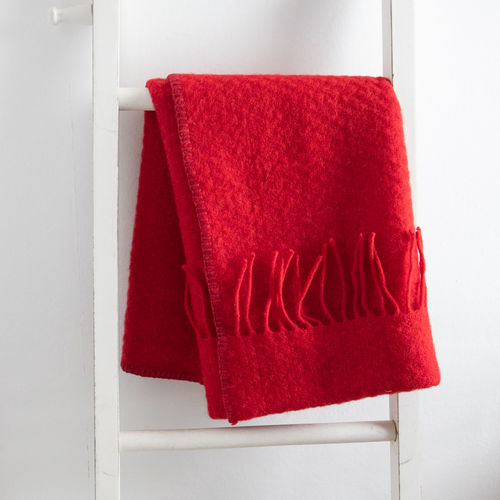 Pram Blanket - Plain Red