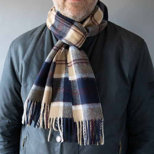 Scarf - Checks Camel and Navy