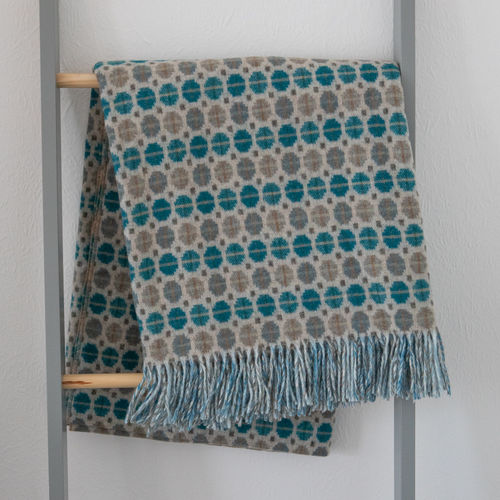 Throw - Lambswool - Mosaic Teal
