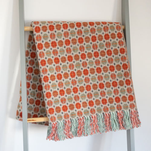 Throw - Lambswool - Mosaic Orange